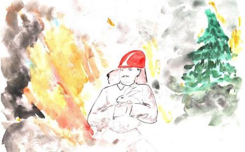 Дуброва Варвара Озерская школа -Пожар в лесу
