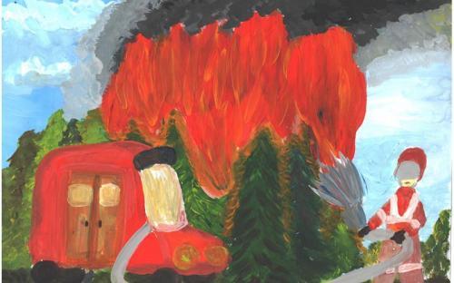 Конюхова Виктория ПСШ №2 -Пожар в лесу