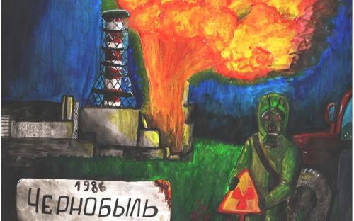 Малышева Анжелика ПСШ №2 - В память о поогибших пожарных
